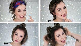 👩🏻 MOJE  TOP  4  FRYZURY  NA  CO  DZIEŃ -  dla krótkich włosów 👩🏻