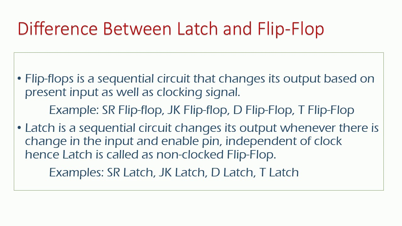 d589af27c Basic difference between Latch and Flip Flop for Interviews - YouTube