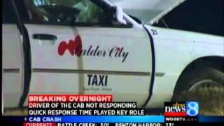 Cab crash location key to quick care
