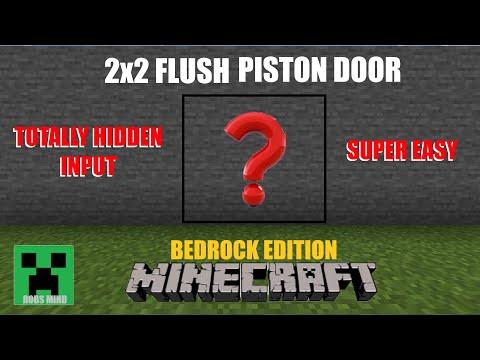 Minecraft 2x2 Flush Piston Door With Hidden Input (Bedrock Edition)