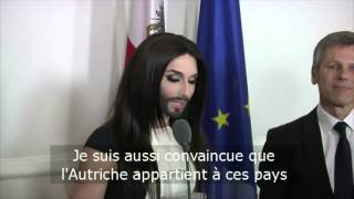 Conchita Wurst a droit à tous les honneurs en Autriche