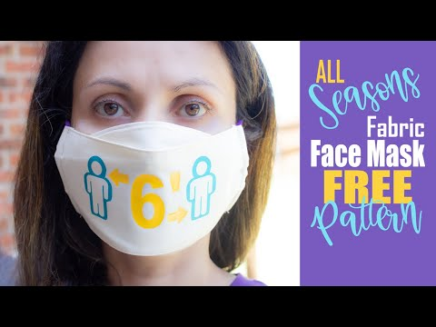 ALL SEASONS Fabric Face Mask with Filter Pocket | Comfortable Fit Fabric Face Mask... [FREE PATTERN]