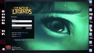 League of Legends Lucian login screen glitch