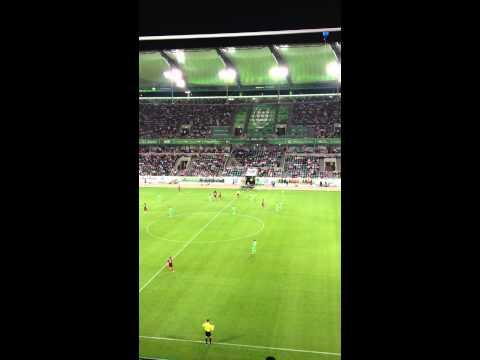 Einwechslung von Edin Džeko am 04.08.12 VfL Wolfsburg - Manchester City FC