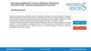Global Forecast for Germany Outbound Tourism Market Size, Share, Trends and Growth Analysis