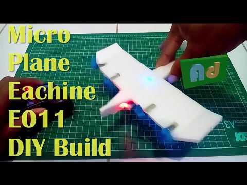 DIY Micro RC Plane E011 Wingspan 20 cm (Murah, Kecil, Ringan)