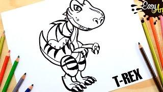 DRAGON CITY│Cómo Dibujar a Dragon T -REX│Dragon how to draw  Dragon T - Rex