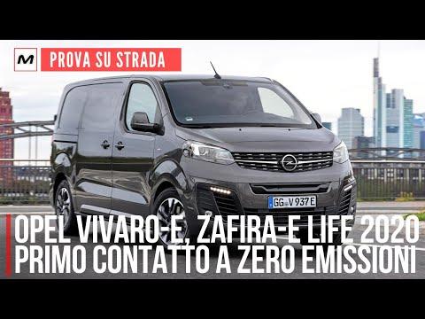 OPEL VIVARO-E e ZAFIRA-E LIFE 2020: la PROVA in anteprima dei nuovi van elettrici