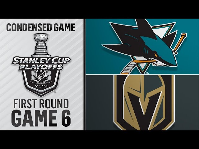 04/21/19 First Round, Gm6: Sharks @ Golden Knights