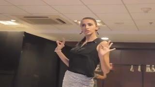 Rampwalk Training With Alesia Raut At Yamaha Fascino Miss Diva 2016 Finalists