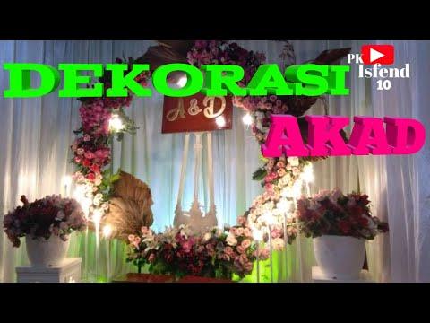dekorasi akad nikah - youtube