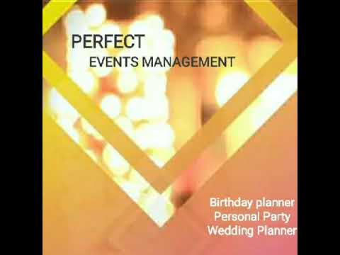 Perfect events management profile