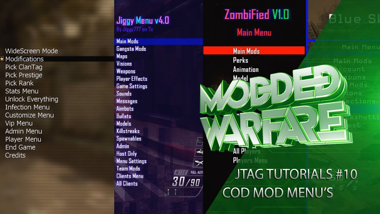 Jtag/RGH Tutorials #10 Installing Call of Duty Mod Menu's