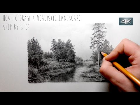 How To Draw a Realistic Landscape   Step by Step