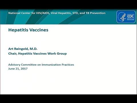 June 2017 ACIP Meeting - Hepatitis Vaccines