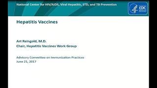 June 2017 ACIP Meeting - Hepatitis Vaccines