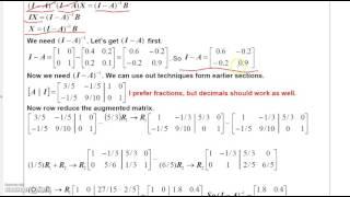 Finite Math 2 5 Leontief Models (Input - Output Models)