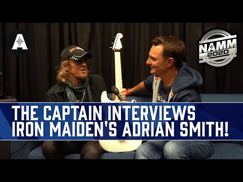 The Captain Talks Guitars with Iron Maiden's Adrian Smith! - NAMM 2020