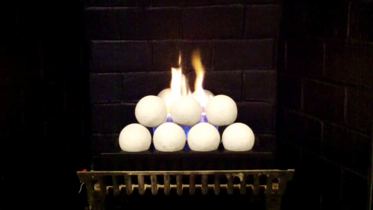rasmussen alterna fireballs vent free gas logs youtube