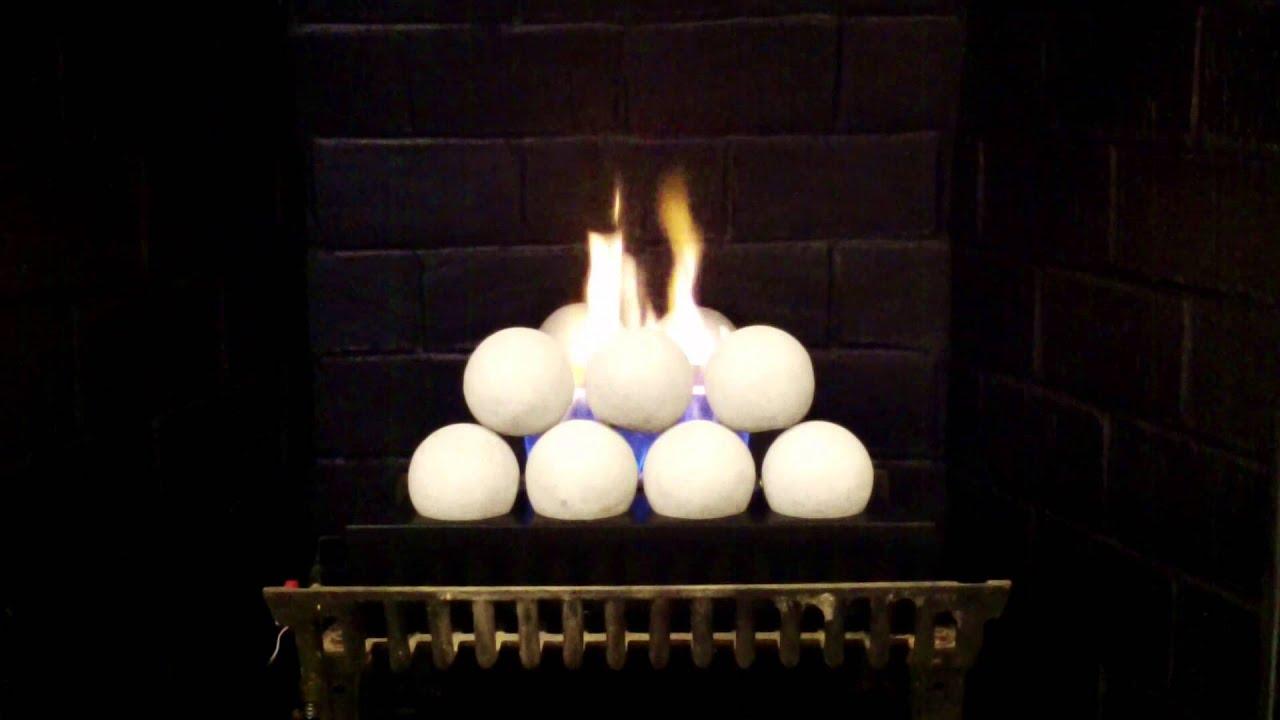 Rasmussen Alterna FireBalls Vent Free Gas Logs  YouTube