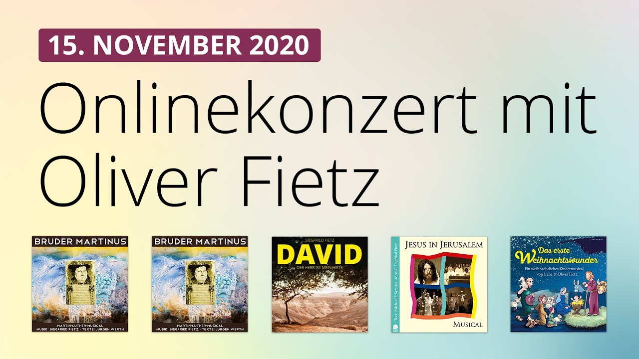 Online-Konzert am 15.11.2020
