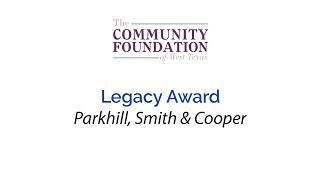 Legacy Award - Parkhill, Smith & Cooper