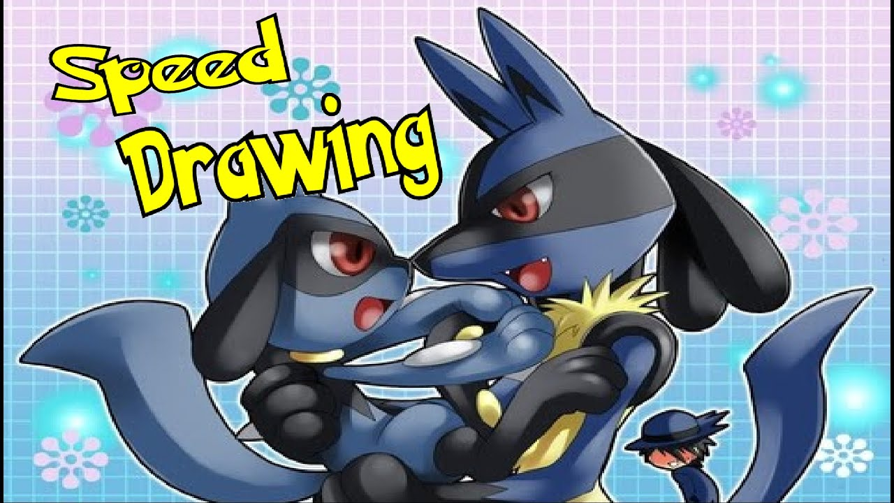 Lucario and riolu father and son