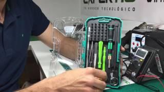 Explicación estuche herramientas - Curso reparación de móviles Expertic