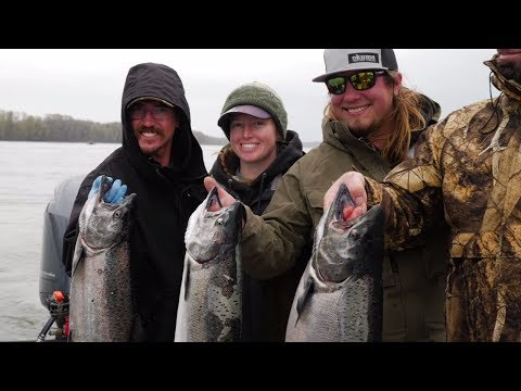 The BEST Day Of Spring Salmon Fishing With Weird SURPRISE Catch!!