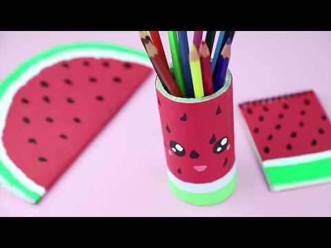 DIY WATERMELON SCHOOL SUPPLIES || Cute & Easy Back to School Materials -Part 5
