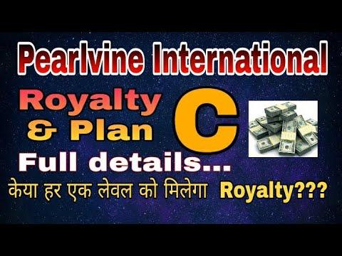 Pearlvine International Royalty &Plan -C full details. केया हर एक लेवल को मिलेगा Royalty??