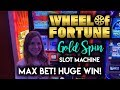 HUGE WIN! Going for GOLD on Wheel of Fortune Gold Spin! Slot Machine!