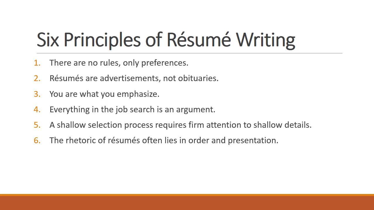 Resume Writing 101  YouTube
