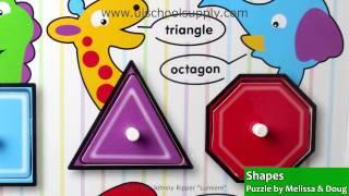 Shapes Fresh Start Puzzle By Melissa & Doug 3285