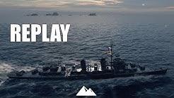 KIDD, GunDD der Fletcherklasse auf T8! - World of Warships   [Replay] [Deutsch] [60fps]