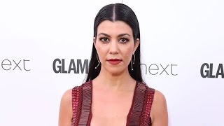 Kourtney Kardashian Sizzles in Sexy, Plunging Red Dress at 'Glamour' Women of the Year Awards