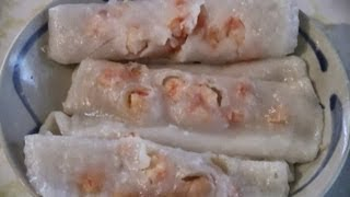 Prawn Chinese Rice Noodle Rolls  (dim Sum Recipe)
