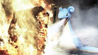 【実写ポケモン】熱くなったパソコンをラプラスで冷やすwwwwwww Pokemon in Real Life!