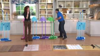 Don Aslett's Rubber Broom & Microfiber Mop Set w/ 3 Microfiber Pads with Albany Irvin
