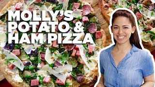 Pizza Topped with Ham and POTATO with Molly Yeh | Food Network