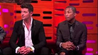 Robin Thicke/Pharrell Blurred lines Graham Norton