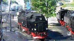 HSB - Immenser Betrieb und emsiges Treiben beim Aufrüsten der Loks in Wernigerode
