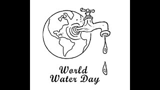 How to draw World Water Day cartoon drawing step by step