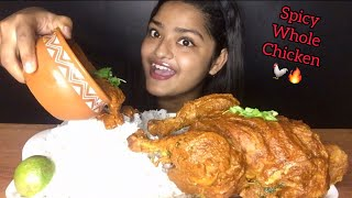 SPICY WHOLE CHICKEN CURRY WITH BASMATI RICE | EATING SOUNDS | MESSY EATING | FOOD EATING VIDEOS