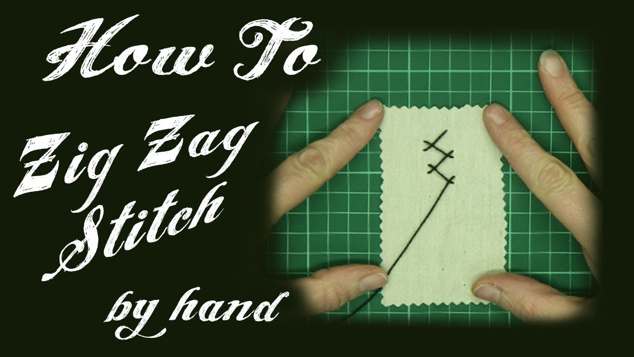 *ZIG ZAG STITCH* by Hand Tutorial - Alice's Bear Shop