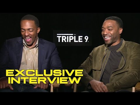 Anthony Mackie and Chiwetel Ejiofor Exclusive Interview - TRIPLE 9 (2016)