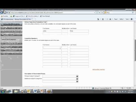 ProQuest Dissertation Submission Webinar