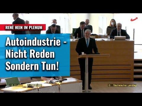 Autoindustrie - Nicht Reden, sondern Tun! René Hein im Plenum