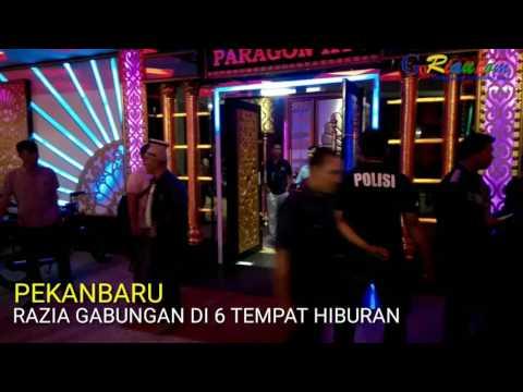 Detik-detik 6 tempat hiburan Pekanbaru kena razia