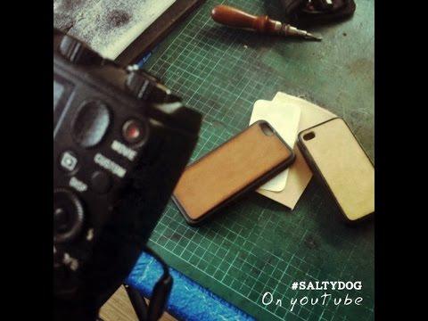 Уроки работы с кожей. Чехол подставка для телефона. Leather Case